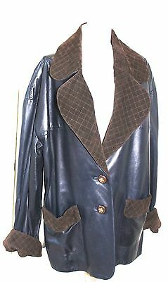 Vintage Chanel Leather Jacket  42