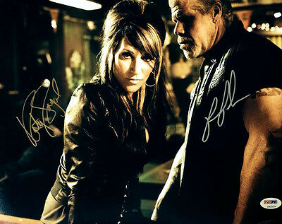 Katey Sagal & Ron Perlman Dual Signed 11x14 Photo Sons Of Anarchy Psa/dna