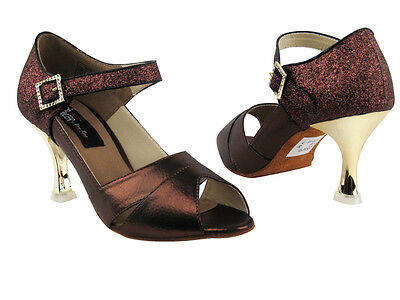 3 Colors! - Copper Brown, Black, Gold, Latin Salsa Very Fine Dance Shoes Cd3010