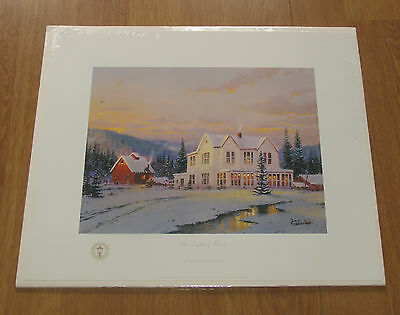 "Thomas Kincade- Ltd. Ed. ""the Lights Of Home"" Artist Proof  W/coa  Of Only 250!"