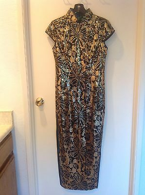 Traditional Chinese Dress Qi Pao, Wedding Dress With Sequin
