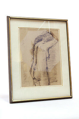 Stanley Morel Cosgrove Original Nude Charcoal Sketch On Paper, Signed And Dated