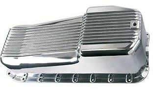 Chev Small Block Engine Oil Pan Polished Alloy Suit Early Engine Chev 1955-79