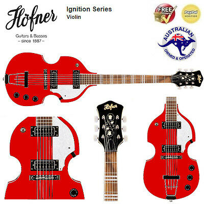 hofner violin 6 string guitar (cherry, ignition [limited edition]) *brand new*