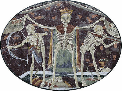 Walking Dead Macabre Dance Mural Halloween Home Decoration Marble Mosaic