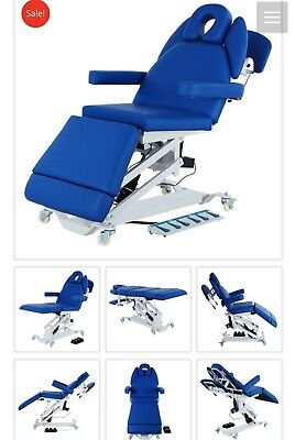 brand new hi lo electric physical therapy table, blue, new 1 year warranty