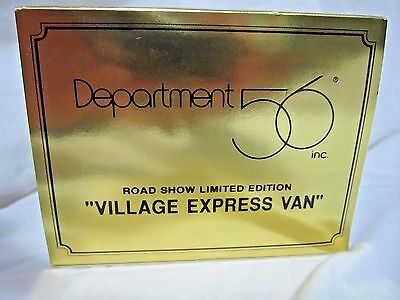 Department 56 Gold Road Show Village Express Van **extremely Rare** Nib