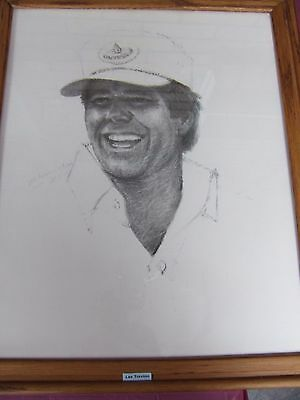 """""""the Legends Of Golf"""", Series By Paul Milosevich, 7 Total Charcoal Framed Art"""