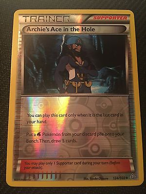 Pokemon Tcg: Xy Primal Clash Archie's Ace In The Hole 124/160 Uncommon Reverse