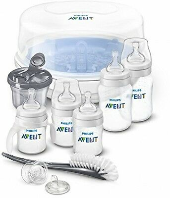 Philips Avent Anti-colic Bottle Essentials Newborn Starter Set, Clear