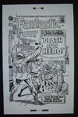 Large Original Production Art Fantastic Four #32 Cover, Jack Kirby Art