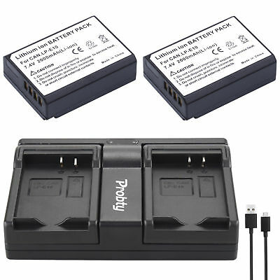 Батареи 2Pcs LP-E10 + USB Dual