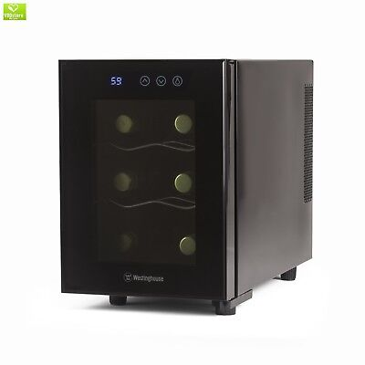 Westinghouse Wwt060tb Thermal Electric 6 Bottle Wine Cellar With Touch Panel Adj