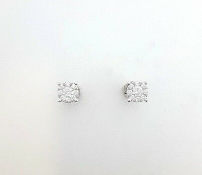 Miran 120148 18k White Gold 0.65ct Diamond Invincible Set Studs Rrp $2499