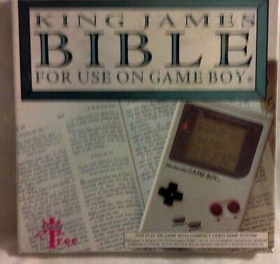 Rare King James Bible Nintendo Game Boy Game New Original Factory Sealed 1994