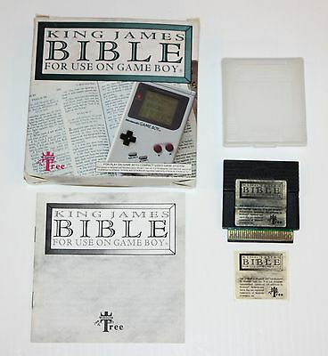 King James Bible (nintendo Game Boy) Gb--cartridge W/original Box