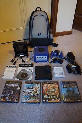 Original Gamecube Complete W/ Intec Mini Flip-screen & Gameboy Advance Bundle!