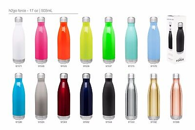 H2go Force 17oz Double Wall Thermal Bottles With 1-color Imprint - Qty 48
