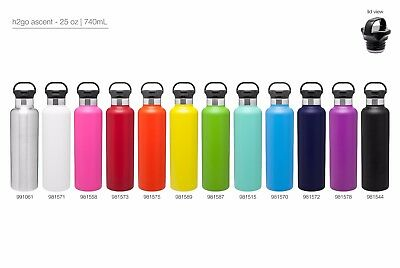 H2go Ascent 25 Oz Double Wall Thermal Bottles With 1-color Imprint - Qty 48
