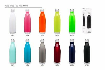 H2go Force 26oz Double Wall Thermal Bottles With 1-color Imprint - Qty 48