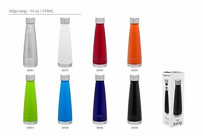 H2go Swig 14 Oz Double Wall Thermal Bottles With 1-color Imprint - Qty 48