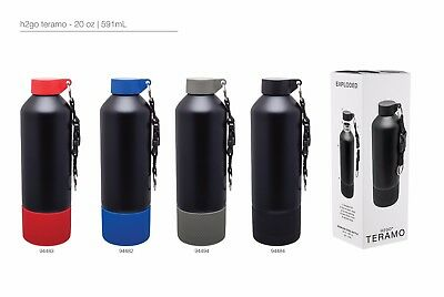 H2go Teramo 20 Oz Double Wall Thermal Bottles With 1-color Imprint - Qty 48