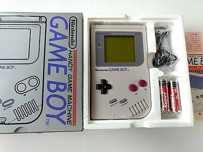 New Nintendo Original Game Boy Gray Color Console (dmg-001) Boxed Seted-h-