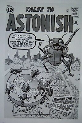 Original Production Art Tales To Astonish #39 Cover, Jack Kirby Art, Ant Man