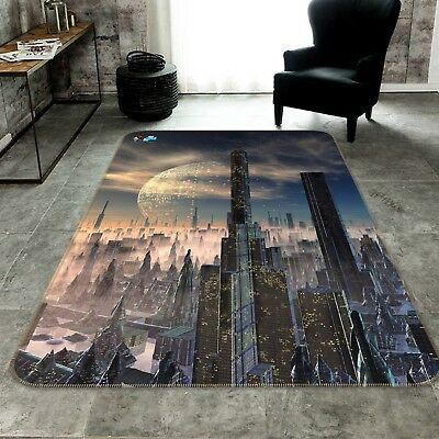 3d Nice Alien City 207 Non Slip Rug Mat Room Mat Quality Elegant Photo Carpet Au