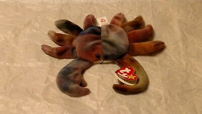 Ty Beanie Babies, Retired Claude The Crab, Near Mint Condition