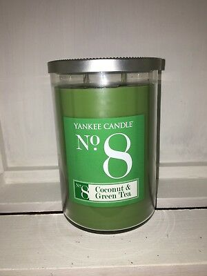 Yankee Candle 22oz 623g Large Jar Coconut & Green Tea No 8 Double Wick