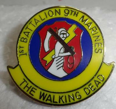 """1st Bn - 9th Marines Division Hat Pin - """"the Walking Dead"""""""