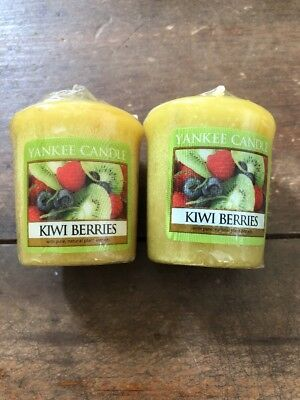2-yankee Candle Votive Candles Scented1.75 Oz Each Kiwi Berries Bn14