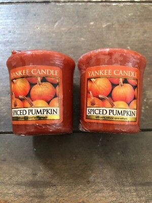 2-yankee Candle Votive Candles Scented1.75 Oz Each Spiced Pumpkin Bn14