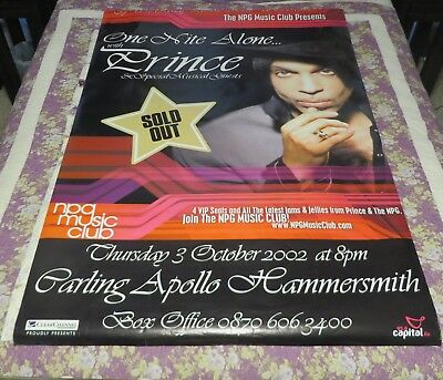 "Prince - Huge - One Nite Alone Poster 40"" X 60"" - Very Unique & Extremely Rare"