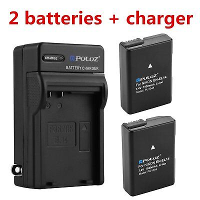 Батареи EN-EL14 Battery & Charger for