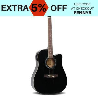 41 5 band eq electric acoustic guitar full size  black