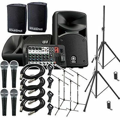 Yamaha Stagepas 400 Bt (with Cover) Band Practice ? Speaker Set For Mini Live