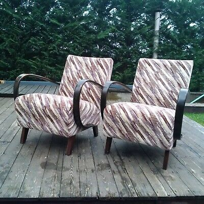 Halabala´s Armchairs, Art Deco Style, First Half 20th Century.