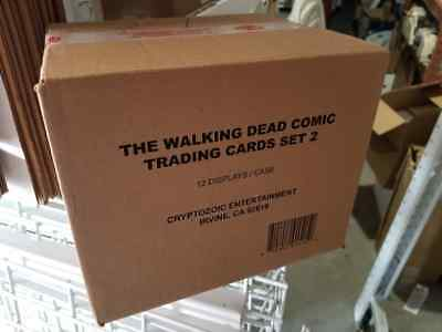 Walking Dead Comic Series 2 Trading Cards Case  12 Boxes  Factory Sealed  2013