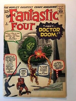 fantastic four # 5 , complete , huge collectible .