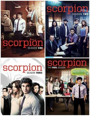 Scorpion All Season 1-4 Dvd Set Complete Series Collection Episodes Tv Show Box
