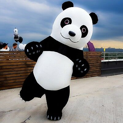 new inflatable furry suit big panda costume, great events and parties
