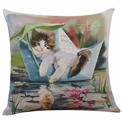 Funic Pillow Cover, Cute Cat Sofa Bed Home Decoration Festival Throw Pillow Case