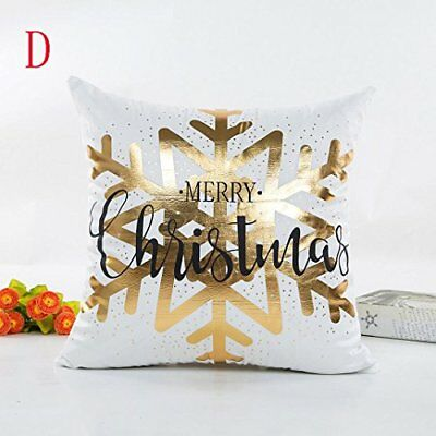 Christmas Pillow Cover, Funic Gold Foil Printing Pillow Case Sofa West Slow Cush