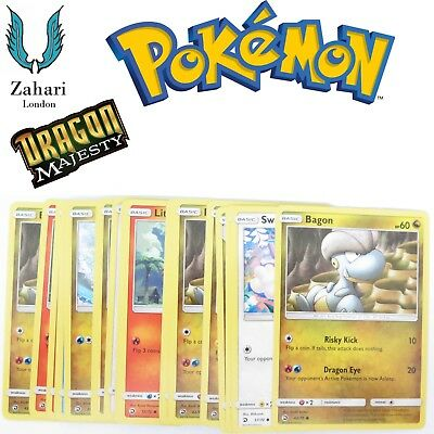 Dragon Majesty Non-Holo Uncommon Common Single Pokemon Trading Cards!