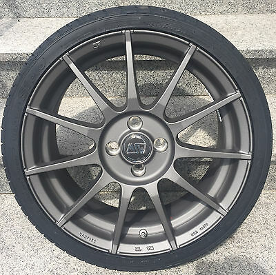 """Msw Alloy Wheels Smart Fortwo 453 All - Season Tyres Vredestein 16 """" Grey By Oz"""