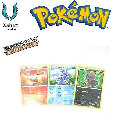 Black & White Noble Victories Reverse Holo Rare (Un) Common Pokemon Single Cards