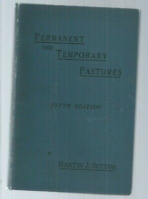 permanent and temporary pastures  natural grasses and clovers  sutton 1895 agr