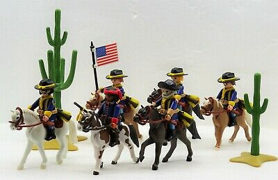 Yankee Cavalry Soldiers Scout Trompeter Flag Bearer Playmobil Mega